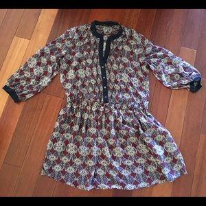 Club Monaco Silk Dress in Burgundy/Navy, sz 10